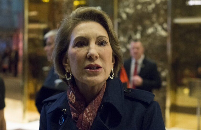 Carly Fiorina, who ran for president in 2016, said she is considering a run for Democratic U.S. Sen. Tim Kaine's Virginia senate seat.