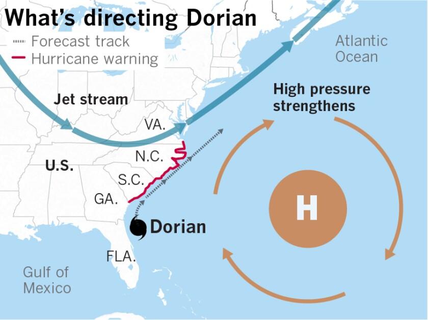 Dorian threatens Carolinas