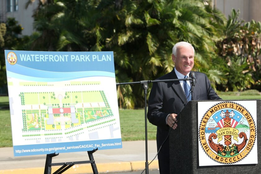 Board of Supervisors Chairman Ron Roberts at groundbreaking of County Waterfront Park.