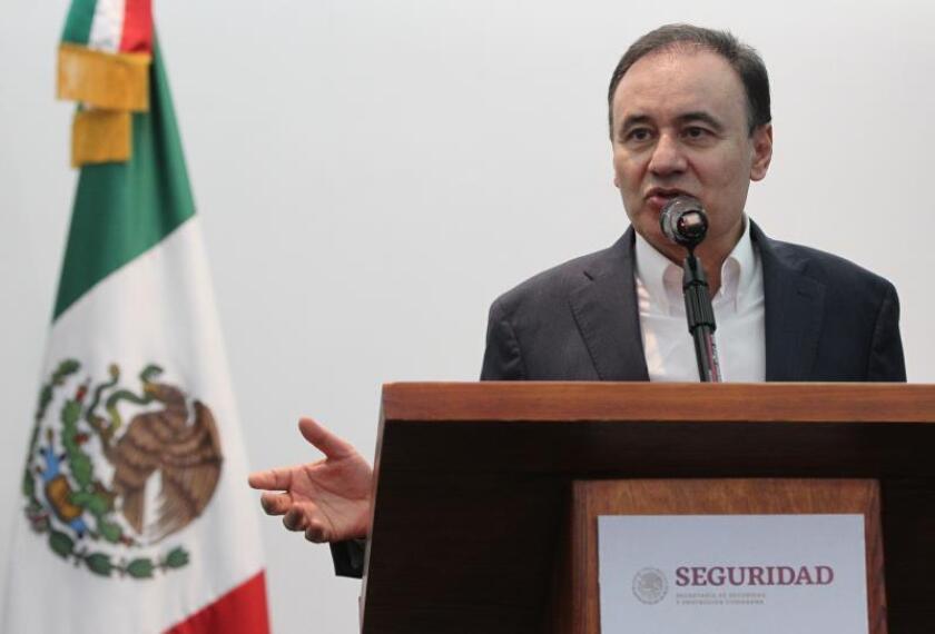 El secretario de Seguridad y Protección Ciudadana, Alfonso Durazo, habla en rueda de prensa en Ciudad de México (México). EFE/Archivo