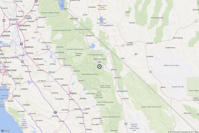 Earthquake: 4.0 quake strikes near Mammoth Lakes, Calif.