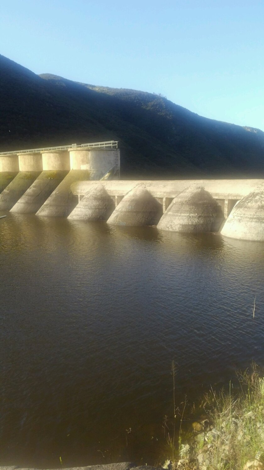 The Hodges Dam reservoir filled quickly due to April's rains.