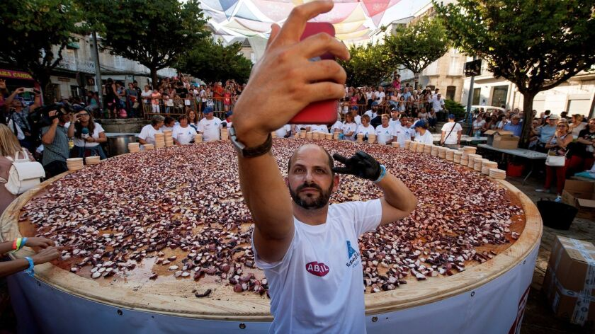 Maybe a super-sized tapas plate of octopus In Galicia, Spain, qualifies as a worthy selfie stop. Travelers in a recent survey found selfie-snapping to be one of the most annoying behaviors among fellow travelers.
