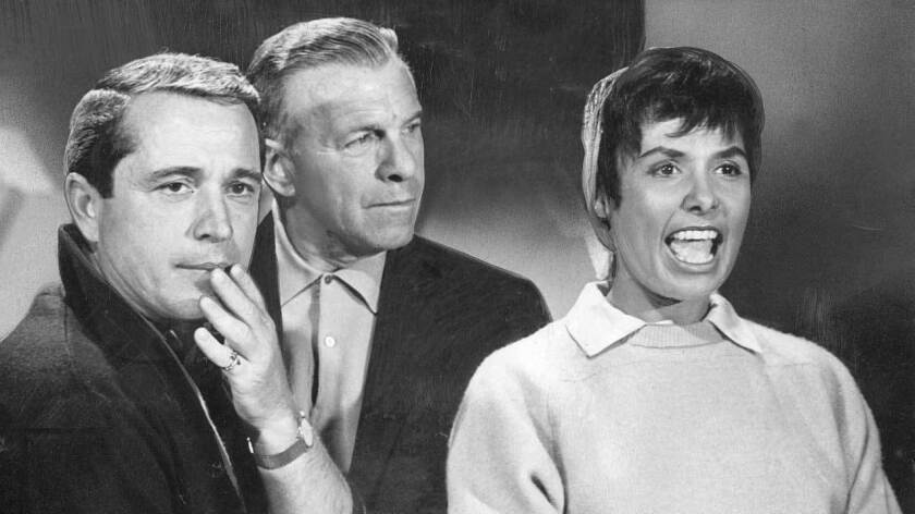 George Burns and Lena Horne join Perry Como, left, on the singer's popular variety show, which ran on NBC from 1955 to 1963.
