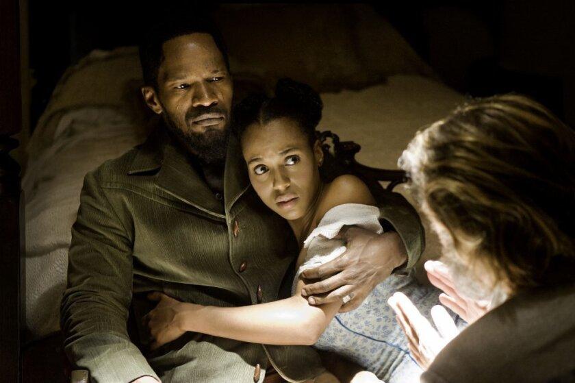 "Jamie Foxx and Kerry Washington in ""Django Unchained."""
