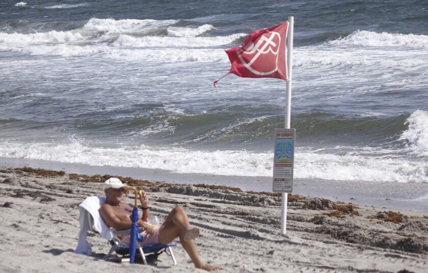 A concentration of red tide has been confirmed off the coast of Palm Beach County.