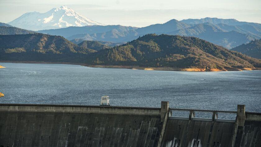 The Shasta Dam in Shasta County, Calif. on Feb. 17, 2018.
