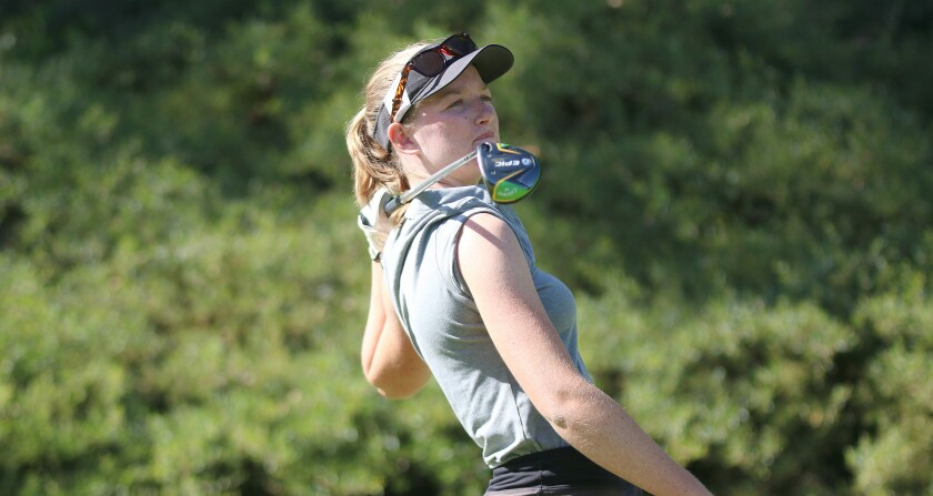 Junior Libby Fleming is Torrey Pines top-ranked golfer to date.