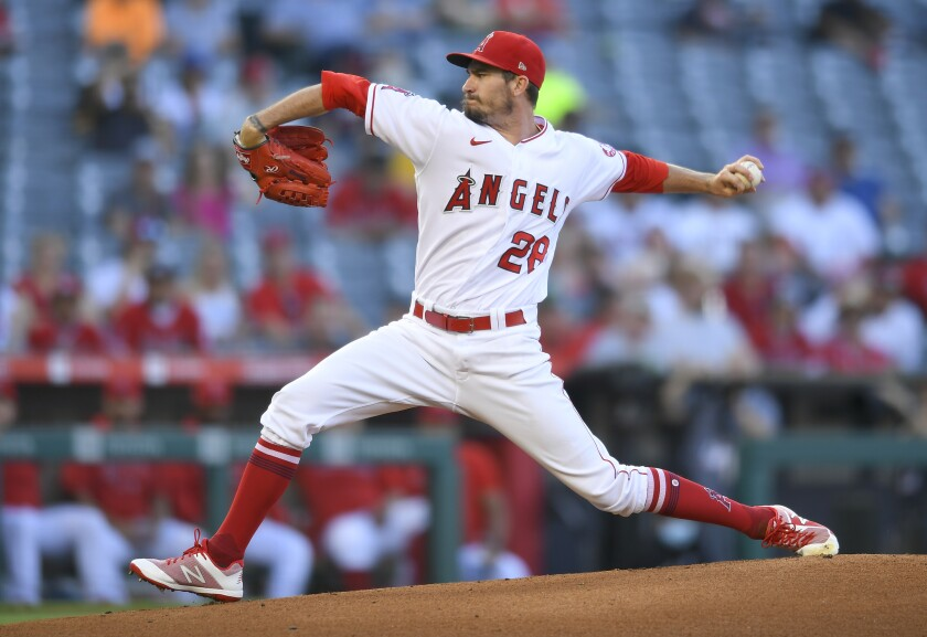 Andrew Heaney made his final start for the Angels on Wednesday against the Rockies. He was traded to the Yankees on Friday.