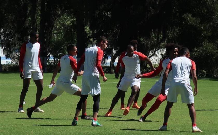 En la imagen, jugadores de la Liga de Quito. EFE/Archivo