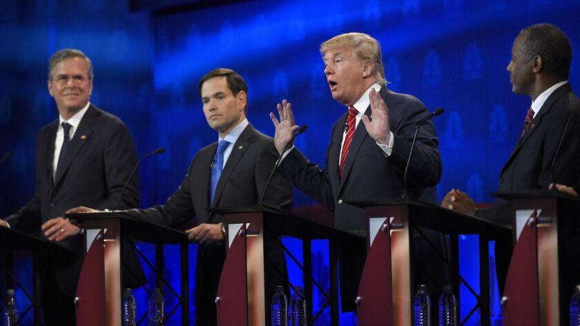 Donald Trump, Jeb Bush, Marco Rubio, Ben Carson