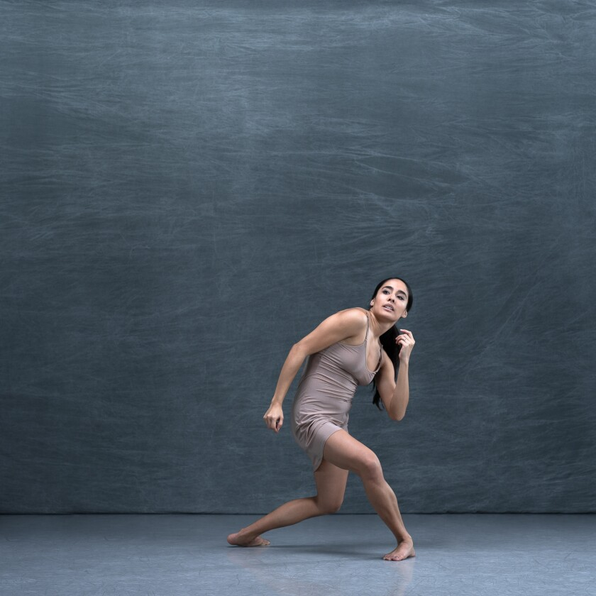 """María José Castillo in """"She/Her/Hers"""" by Tamisha Guy, part of LITVAKdance's spring concert, """"Reimagining Suffrage and Other Stories."""""""