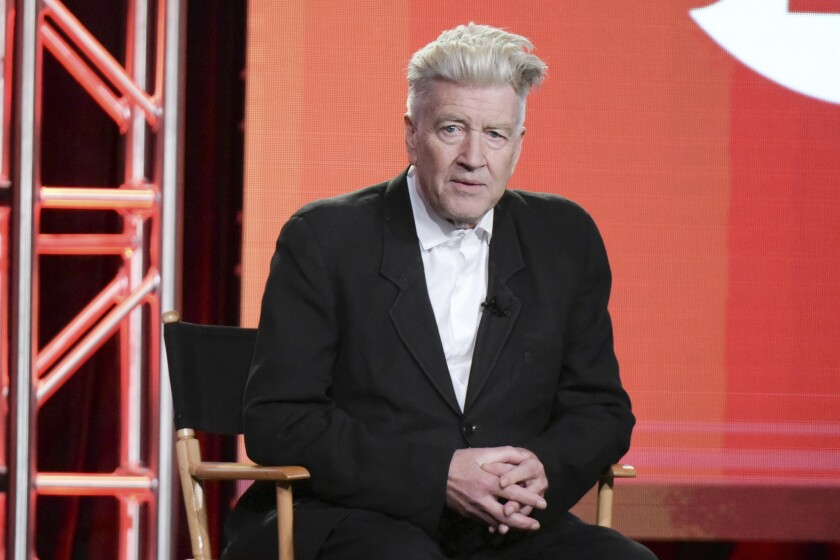 """David Lynch attends the """"Twin Peaks"""" panel at the 2017 Winter Television Critics Assn. press tour on Jan. 9."""