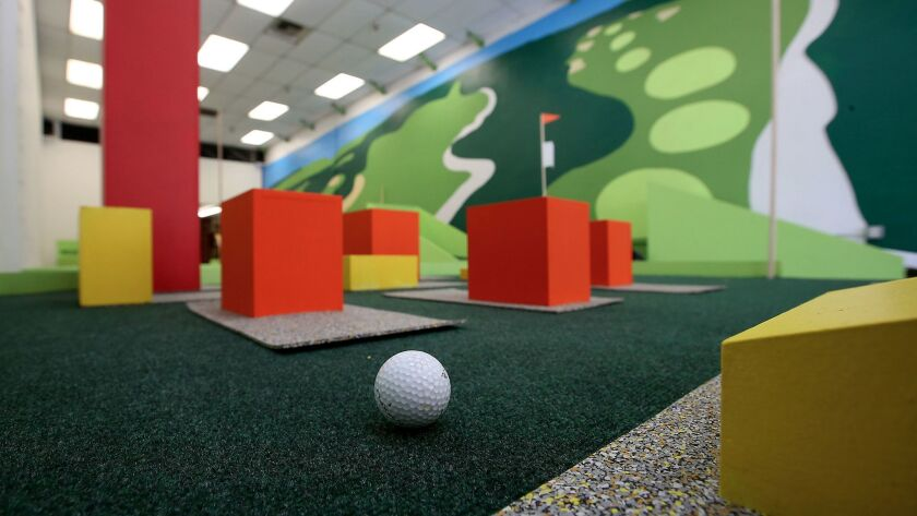 A mini-golf course created by the Los Angeles Poverty Department is inspired by zoning in L.A.