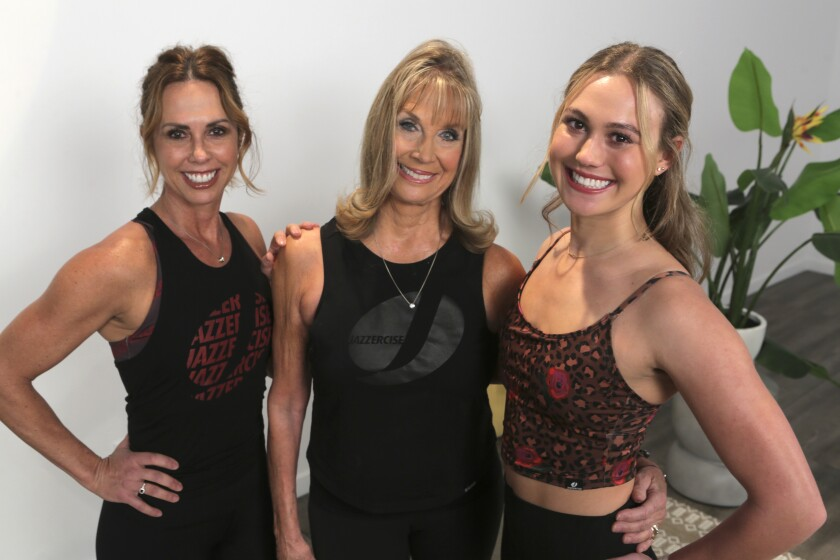 Skyla Nelson (right) with her mother, Shanna Missett Nelson, and grandmother Judi Sheppard Missett.