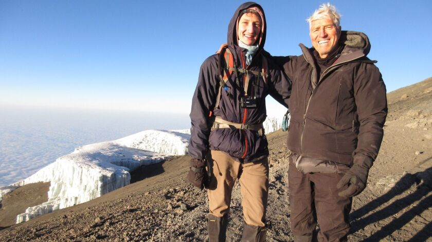 Phillip and Simon Andrews at the Mount Kilimanjaro.