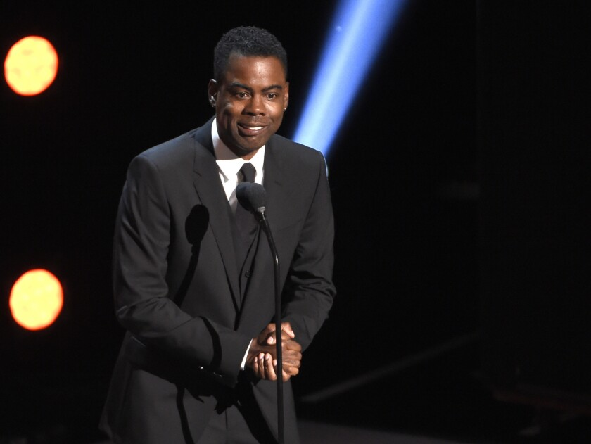 Chris Rock presents the award for outstanding comedy series at the 50th annual NAACP Image Awards on Saturday, March 30, 2019, at the Dolby Theatre in Los Angeles.
