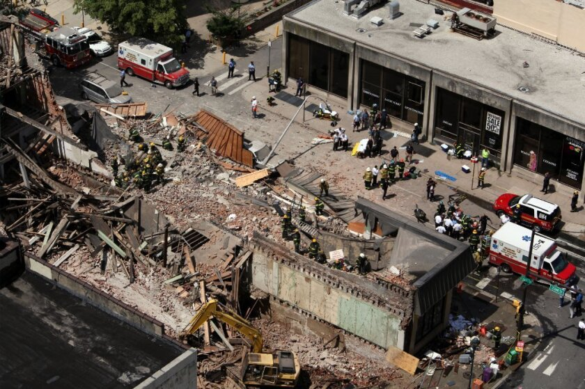 The scene of a building collapse in June in downtown Philadelphia that left six people dead.