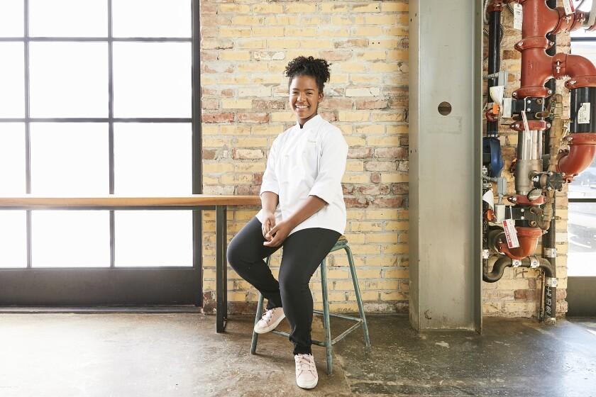 Rahanna Bisseret Martinez, a 16-year-old Oakland chef