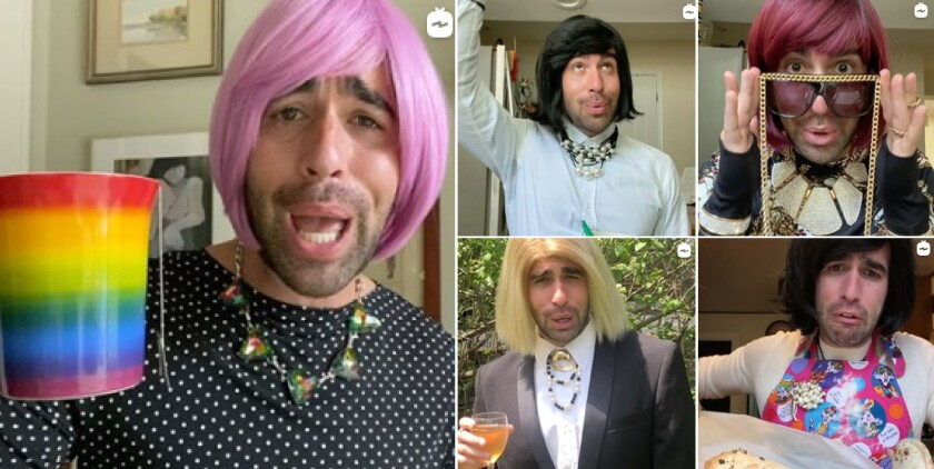 Actor Michael Judson Berry has kept busy during quarantine impersonating the 'Schitt's Creek' character Moira Rose.