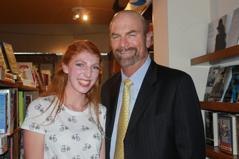 Zoe Haskins and her father, Town Council president Steve Haskins