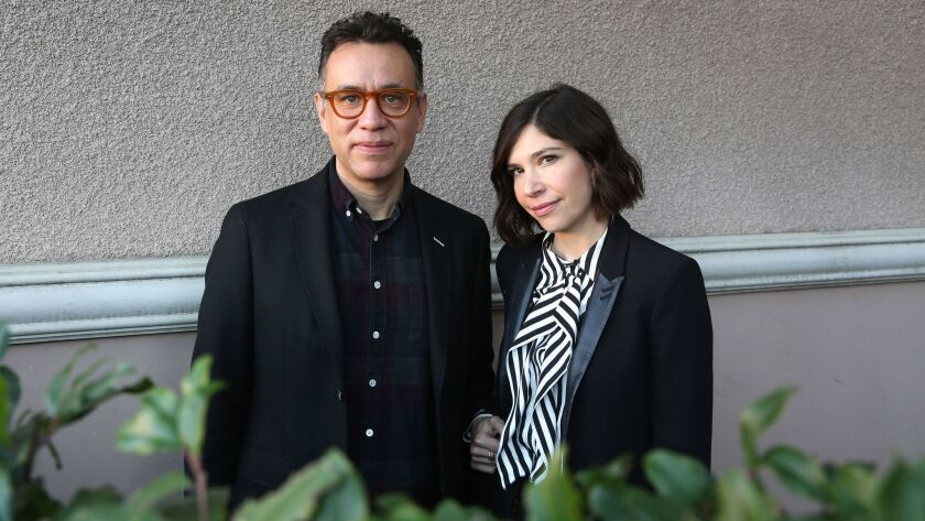PASADENA, CA-JANUARY 15, 2018: Fred Armisen and Carrie Brownstein are photographed at the Langham Ho