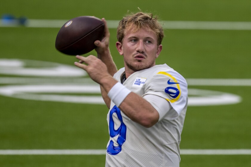 Rams backup quarterback John Wolford worked efficiently against the second-team defense in Saturday's scrimmage.