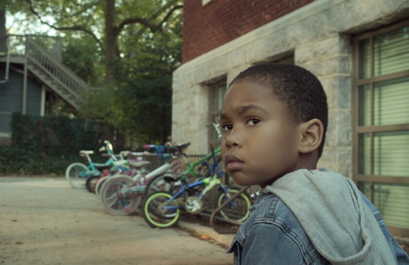 "Ja'Siah Young plays a second-grader with superpowers in the Netflix series ""Raising Dion."""