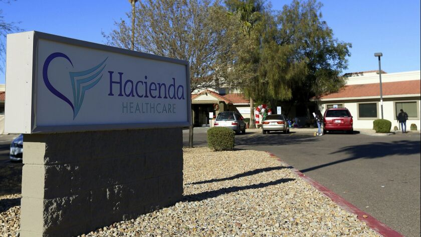 The Hacienda HealthCare facility in Phoenix, Ariz. on Jan. 4.
