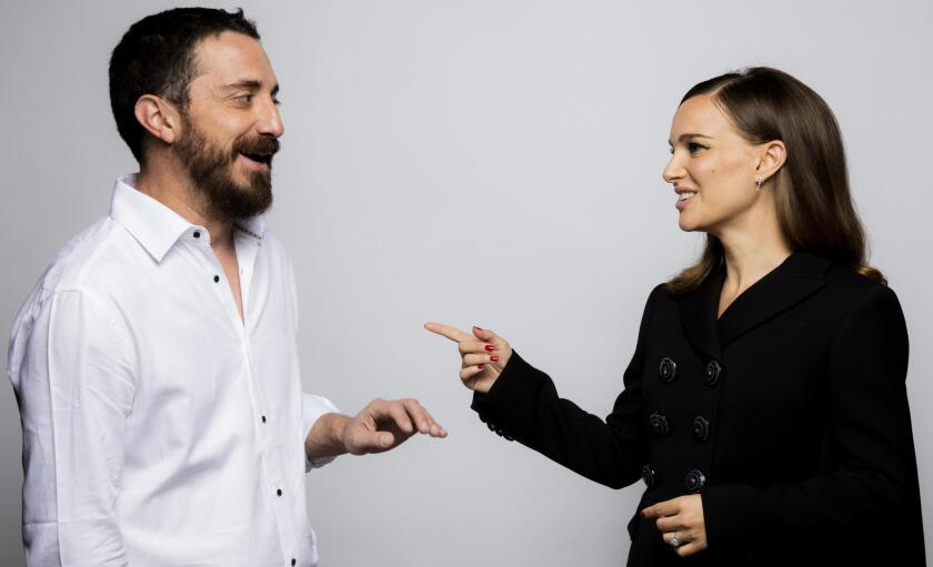 Director Pablo Larraín with actress Natalie Portman at the 2016 Toronto International Film Festival.