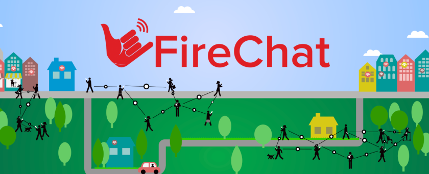 FireChat is a new smartphone app that allows users to communicate with one another by creating offline networks using mobile devices' Bluetooth and wireless technologies.