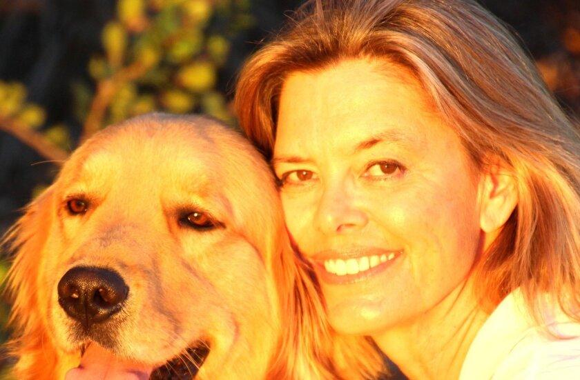 Britta Wilson with Finnegan.