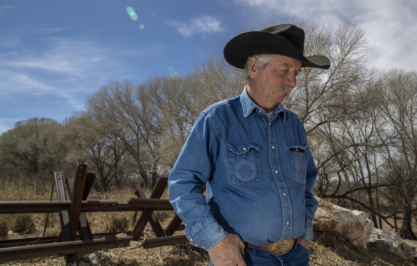COCHISE COUNTY, ARIZ. -- SATURDAY, MARCH 2, 2019: Rancher John Ladd is at odds with the government o