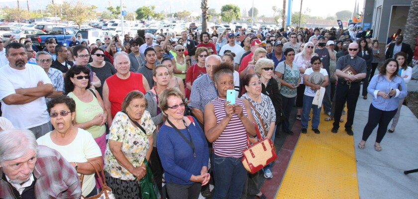 Crowd gathers for Walmart opening in Burbank