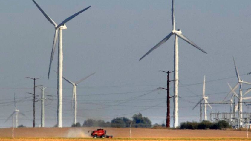 EDP Renewables North America's Twin Groves Wind Farm is seen Oct. 5, 2010, in Bloomington. The company is constructing a new wind farm in McLean County that will be backed by tech giant Salesforce.