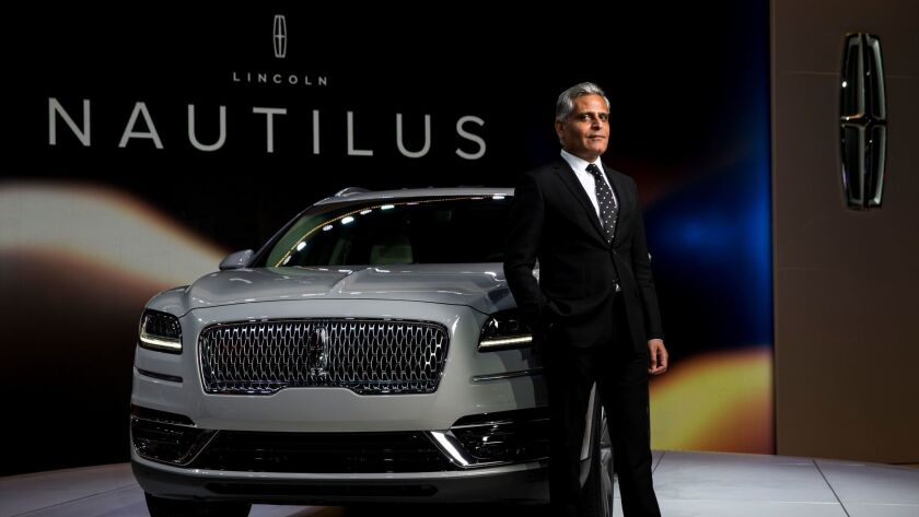 Lincoln Motor Co. President Kumar Galhotra at the 2017 L.A. Auto Show.