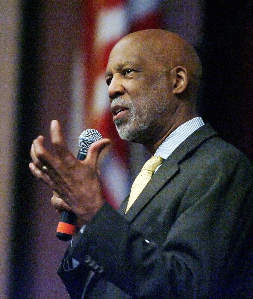 Terrence Roberts, Little Rock Nine member talks at Hoover HS