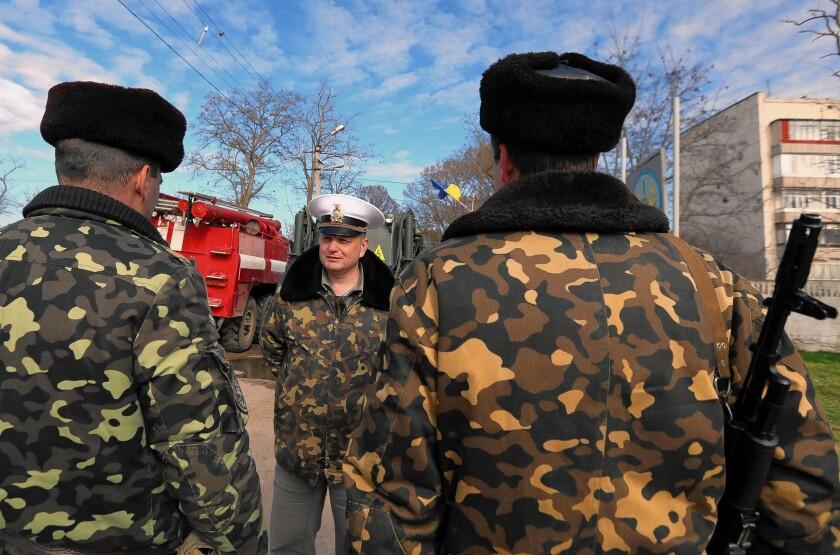 Ukrainian soldiers in Crimea