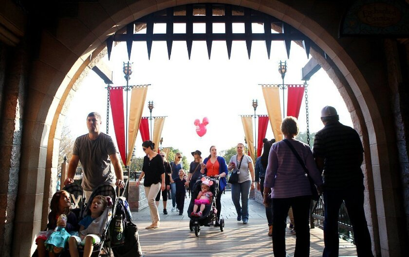 Disneyland guests enjoy a day at the park on Jan. 13.