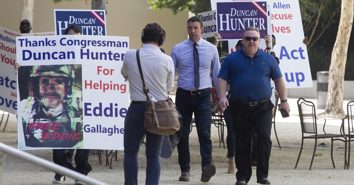 Donations to Rep. Duncan Hunter plummet following his guilty plea, latest campaign filing shows
