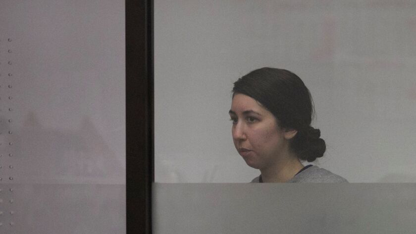 VISTA, CA.-SEPT. 16, 2016: Veronica Rivas was sentenced to 21years to life in the murder of her 21-month old son by drowning him. Her attorney.   PHOTO/JOHN GIBBINS, Staff photographer, San Diego Union-Tribune) copyright 2016