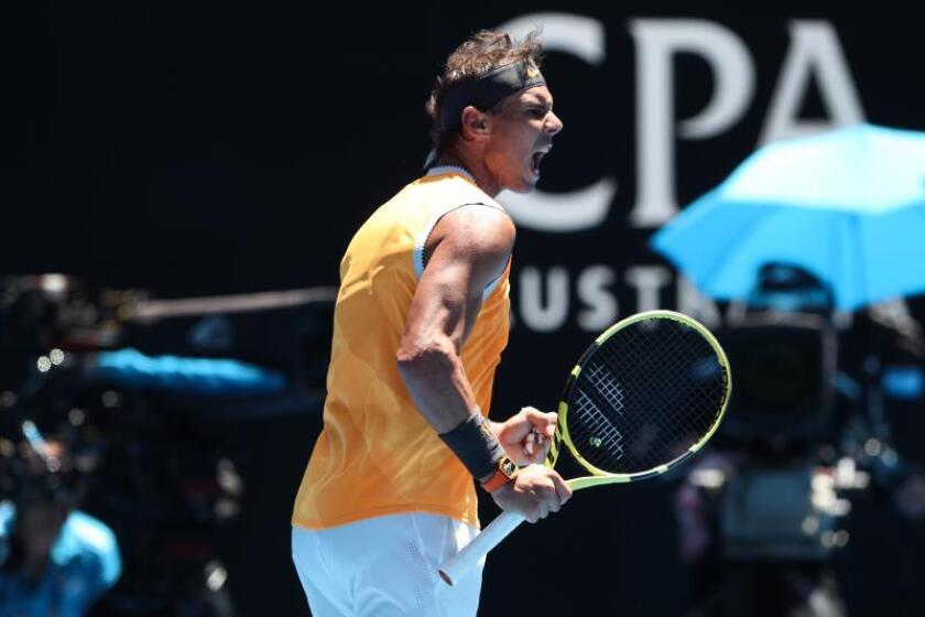 El tenista español Rafael Nadal hoy en Australia. EFE