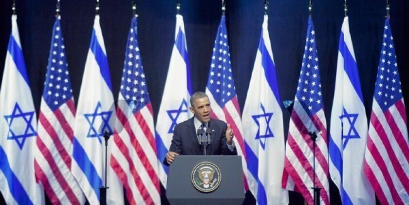 Obama, in speech, tells Israel its future depends on a Palestinian state