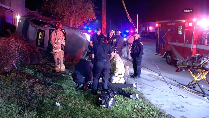 Police arrested a driver who led them on a high-speed pursuit from Chula Vista to Spring Valley and crashed early Monday.