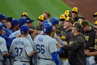 Dodgers' Dave Roberts, Alex Wood explain their side of dust-up with Padres