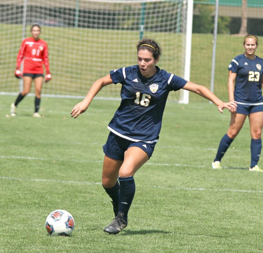 Natalie Saddic on the soccer field.