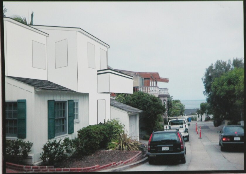 Plans for a proposed second-story addition to this home at 335 Dunemere Drive were scaled back from what DPR members viewed in July to what they were shown in September (as seen in this rendering).