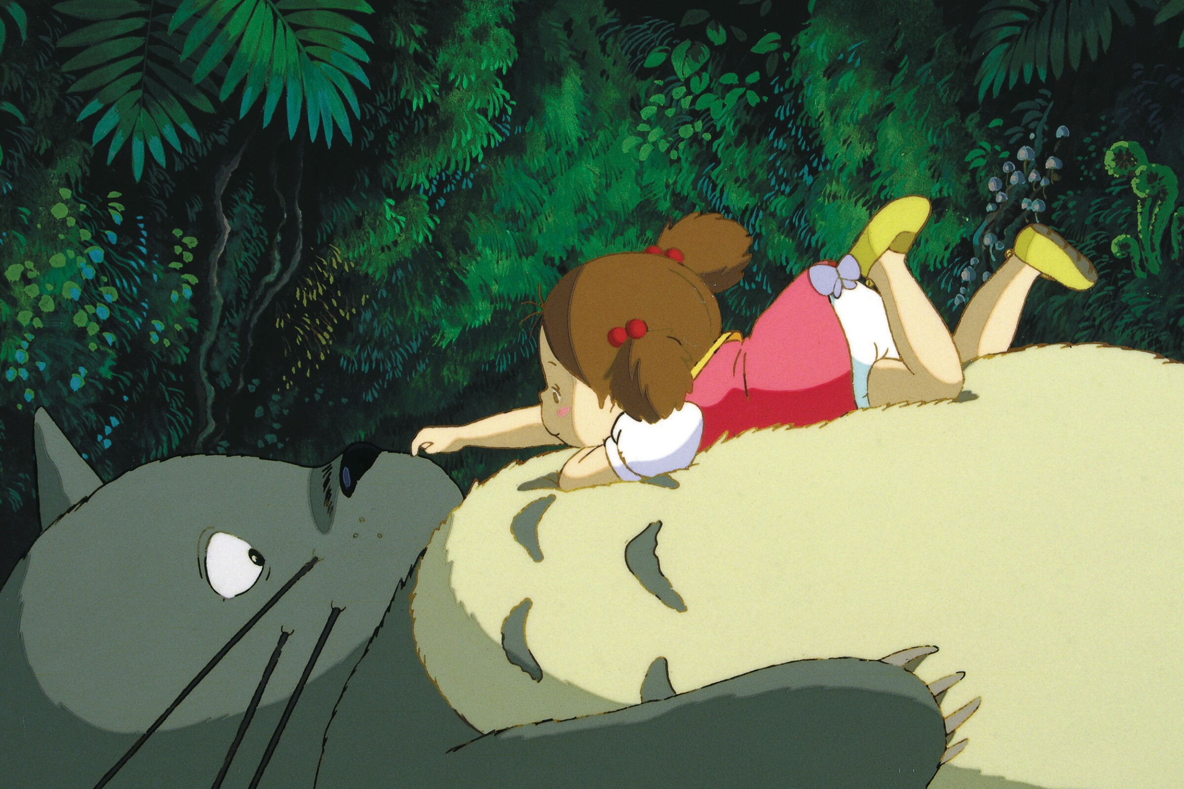 Totoro and Mei in 'My Neighbor Totoro'
