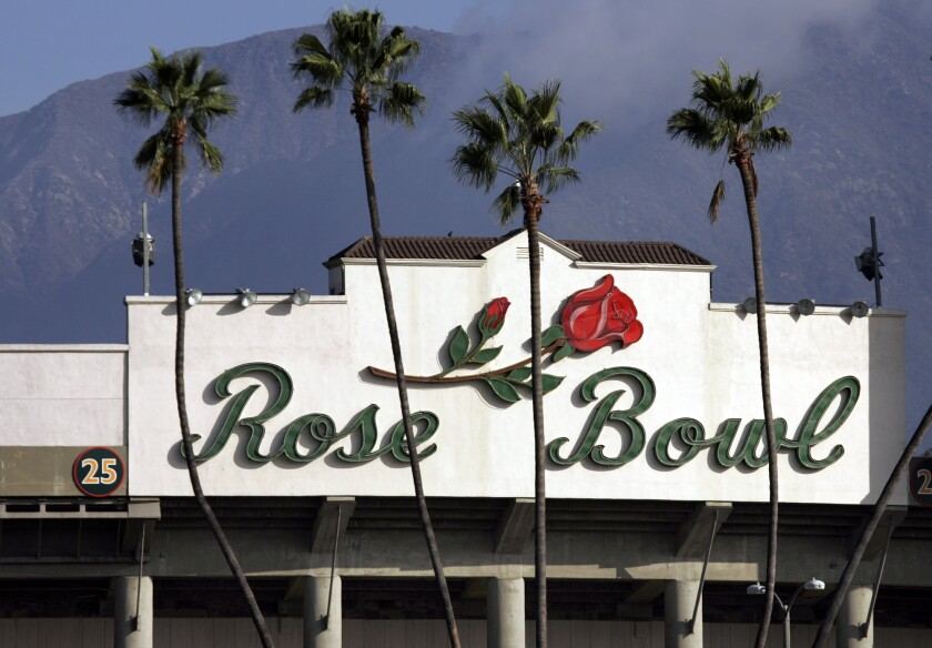 The loop around the Rose Bowl has reopened.
