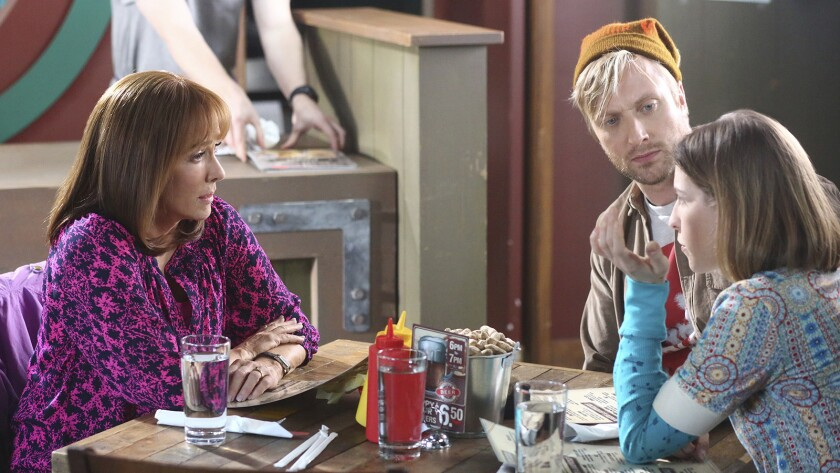"""Patricia Heaton, left, Well Green and Eden Sher in """"The Middle"""" on ABC."""